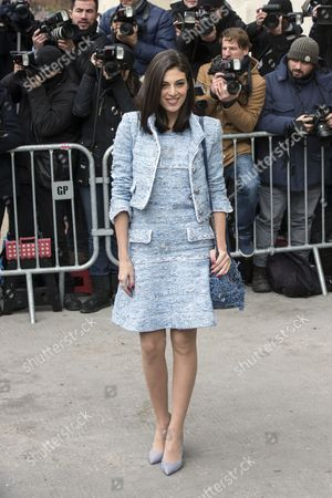 Lebanese Actress Razane Jammal Arrives For the Presentation of the Spring/summer 2015 Haute Couture Collection by German Designer Karl Lagerfeld For Chanel During the Paris Fashion Week in Paris France 27 January 2015 the Presentation of the Haute Couture Collection Runs From 26 to 29 January France Paris