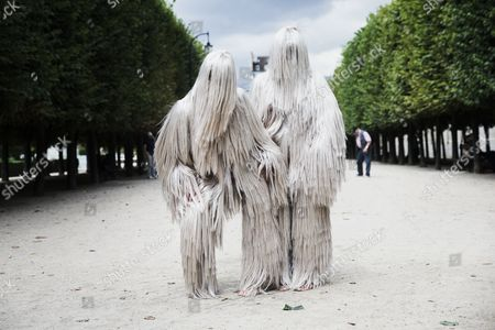 Performers Present Creations From the Haute Coiffure Fall-winter 2014/15 Collection by French Designer Charlie Le Mindu During the Paris Fashion Week in Paris France 07 July 2014 the Presentation of the Haute Couture Collections Runs From 06 to 10 July France Paris