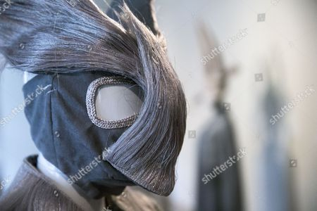 Stock Picture of A Creation From the Haute Coiffure Fall-winter 2014/15 Collection by French Designer Charlie Le Mindu is on Display During the Paris Fashion Week in Paris France 07 July 2014 the Presentation of the Haute Couture Collections Runs From 06 to 10 July France Paris