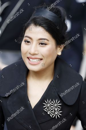 Thai Princess Siriwanwaree Nareerat Arrives to Attend the Presentation of the Fall/winter 2015/16 Ready to Wear Collection by Louis Vuitton During the Paris Fashion Week in Paris France 11 March 2015 the Presentation of the Women's Collections Runs From 03 to 11 March France Paris