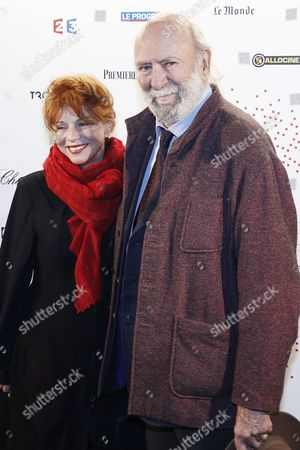 French Actor Jean-pierre Marielle and His Wife French Actress Agathe Natanson Pose For the Photographers During a Photocall Organized Prior to the Vip Opening of the Exhibition 'Lumiere ! Le Cinema Invente' (lumiere ! the Cinema Invented) at the Grand Palais in Paris France 26 March 2015 For the 120th Anniversary of the Invention of the Cinematograph the Lumiere Institute Organizes an Exhibition 'Lumiere ! Le Cinema Invente' (lumiere ! the Cinema Invented) Which Retraces the Inventions of the Two French Brothers Louis Et Auguste Lumiere the Event Runs From 27 March to 14 June 2015 France Paris