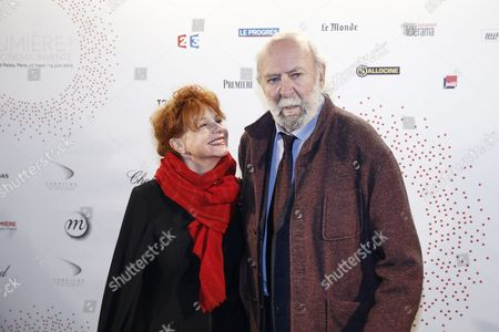 French Actor Jean-pierre Marielle and His Wife French Actress Agathe Natanson Pose For the Photographers During a Photocall Organized Prior to the Vip Opening of the Exhibition 'Lumiere ! Le Cinema Invente' (lumiere ! the Cinema Invented) at the Grand Palais in Paris France 26 March 2015 For the 120th Anniversary of the Invention of the Cinematograph the Lumiere Institute Organizes an Exhibition 'Lumiere ! Le Cinema Invente' (lumiere ! the Cinema Invented) Which Retraces the Inventions of the Two French Brothers Louis Et Auguste Lumiere the Event Runs From 27 March to 14 June 2015 Epa/etienne Laurent France Paris