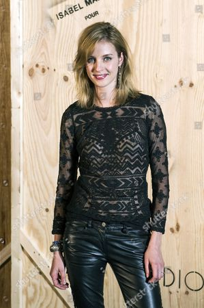 French Model Julia Frauche Poses For the Photographers During the Photocall of 'Isabel Marant For H&m' at the Tennis Club De Paris in Paris France 24 October 2013 France Paris
