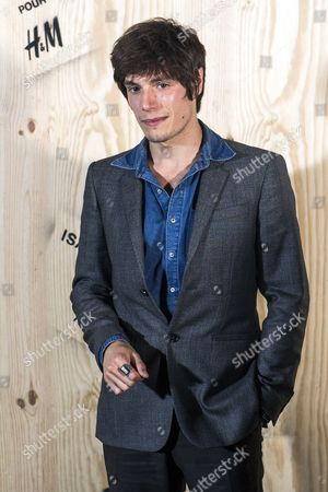 French Actor and Singer Jeremy Kapone Poses For the Photographers During the Photocall of 'Isabel Marant For H&m' at the Tennis Club De Paris in Paris France 24 October 2013 France Paris
