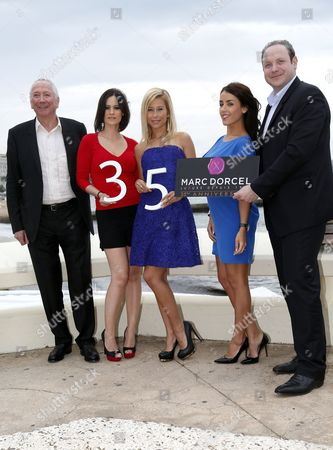 (l-r) French Porn Producer Marc Dorcel French Porn Actress Claire Castel Lola Reve Jade Laroche and Gregory Dorcel Pose During a Photocall For 'Dorcel 35th Anniversary' at the International Audiovisual and Digital Content Market Miptv 2014 Held at the Festival Palace in Cannes France 08 April 2014 the Miptv Which Runs From 07 to 10 April is One of the World's Leading International Trade Events Dedicated to International Television Programs and to Digital Content and Interactive Entertainment For All Platforms France Cannes