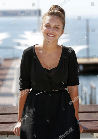 Belgium Actress Pauline Burlet Poses During a Photocall For the Tv Series 'Resistance' at the International Audiovisual and Digital Content Market Miptv 2014 Held at the Festival Palace in Cannes France 07 April 2014 the Miptv Which Runs From 07 to 10 April is One of the World's Leading International Trade Events Dedicated to International Television Programs and to Digital Content and Interactive Entertainment For All Platforms France Cannes
