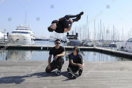 A Picture Made Available on 14 April 2015 Shows (l-r): Daniel 'Malakai' Cabrera Caine Sinclair (top) and William Spencer Posing During a Photocall For the Tv Series 'The Two Bellmen' at the International Audiovisual and Digital Content Market Miptv 2015 Held at the Festival Palace in Cannes France 13 April 2015 the Miptv Which Runs From 13 to 16 April is One of the World's Leading International Trade Events Dedicated to International Television Programs and to Digital Content and Interactive Entertainment For All Platforms France Cannes