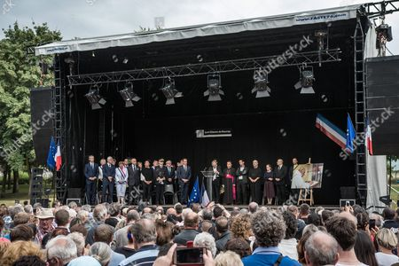 Saint-etienne-du-rouvray Mayor Hubert Wulfranc (c) Delivers a Speech at a Tribute Ceremony with Local and Religious Representatives For the Priest Jacques Hamel in Saint-etienne-du-rouvray France on 28 July 2016 the Priest was Killed in Saint-etienne-du-rouvray Near Rouen France 26 July 2016 the Two Hostage Takers Were Killed by Police After They Took Five Hostages and Killed Priest Jacques Hamel France Saint Etienne Du Rouvray