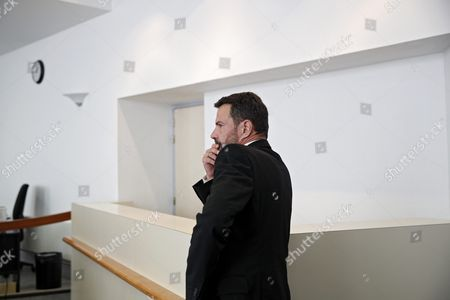 French Former Societe Generale Rogue Trader Jerome Kerviel Waits Inside the Versailles Appeal Court Fighting Civil Damage in Versailles France 23 September 2016 the Court Reduced Keviel's Sentence to Pay One Milion Euros of Damages to Societe Generale Financial Services Group From the Original 4 9 Billion Euros Damages France Versailles
