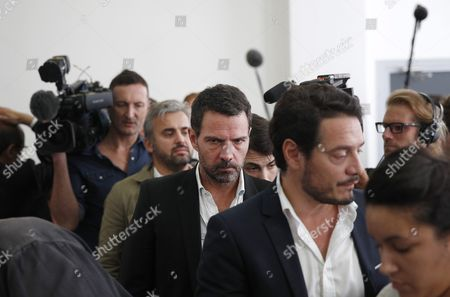 French Former Societe Generale Rogue Trader Jerome Kerviel (c) Arrives at the Versailles Appeal Court to Fight a Civil Damages Case in Versailles France 23 September 2016 Keviel Has Been Sentenced to Pay One Milion Euros to Societe Generale Financial Services Group After They Claimed a 4 9 Billion Euros of Losses in 2008 France Versailles