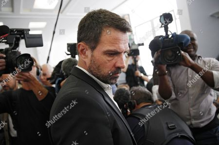 French Former Societe Generale Rogue Trader Jerome Kerviel Arrives at the Versailles Appeal Court Fighting Civil Damage in Versailles France 23 September 2016 the Court Reduced Keviel's Sentence to Pay One Milion Euros of Damages to Societe Generale Financial Services Group From the Original 4 9 Billion Euros Damages France Versailles