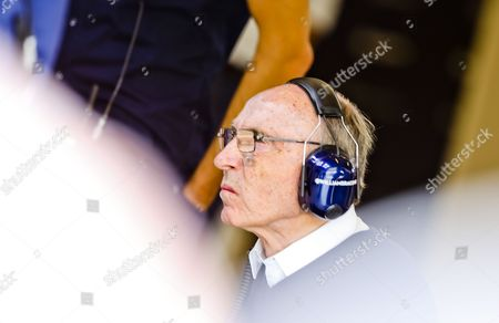 Principal of Williams Team Sir Frank Williams is Seen in His Team's Garage During the Third Practice Session at the Hungaroring Race Track in Mogyorod Near Budapest Hungary 26 July 2014 the 2014 Hungarian Formula One Grand Prix Will Take Place on 27 July Hungary Mogyorod