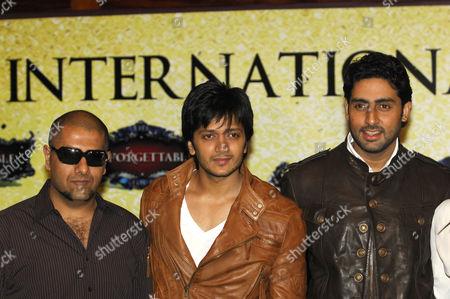 Vishal Dadlani, Riteish Deshmukh and Abhishek Bachchan