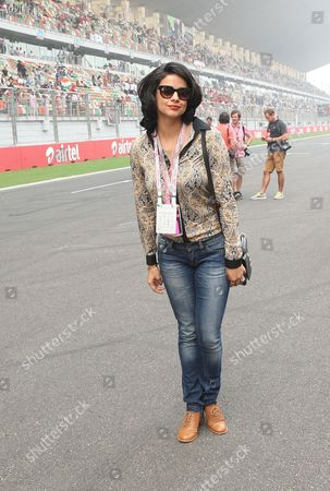 Indian Bollywood Star Gul Panag Seen Ahead of the India Formula One Grand Prix at the Buddh International Circuit on the Outskirts of New Delhi India 27 October 2013 India Greater Noida