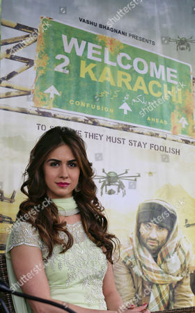Bollywood Film Star Lauren Gottlieb Poses During a Promotional Tour with Co-star Jackky Bhagnani (not Pictured) of Their Film 'Welcome 2 Karachi' in Srinagar the Summer Capital of Indian Kashmir 09 May 2015 Inviting Bollywood is a Part of an Effort by the State Government to Promote Kashmir As an Ideal Tourist Destination India Srinagar