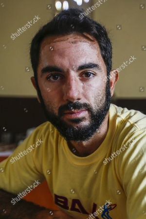 Spanish Boat Sinking Survivor Rafa Martinez at a Hotel in Bali Indonesia 20 August 2014 a Boat was Carrying 20 Tourists and Five Indonesian Crew Members and Guides From the Resort Island of Bali to Komodo Island when It Hit a Rock and Leaked Officials Said Komodo Island is Home to the Komodo Dragon Giant Lizard and a Popular Destination For Divers Thirteen More People Were Rescued After a Boat Carrying Tourists From Europe and New Zealand Sank Off Eastern Indonesia Bringing Survivors to 23 an Official Said on 18 August Indonesia Denpasar