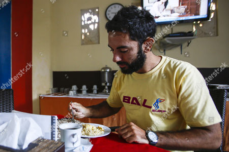 Spanish Boat Sinking Survivor Rafa Martinez During Breakfast at a Hotel in Bali Indonesia 20 August 2014 a Boat was Carrying 20 Tourists and Five Indonesian Crew Members and Guides From the Resort Island of Bali to Komodo Island when It Hit a Rock and Leaked Officials Said Komodo Island is Home to the Komodo Dragon Giant Lizard and a Popular Destination For Divers Thirteen More People Were Rescued After a Boat Carrying Tourists From Europe and New Zealand Sank Off Eastern Indonesia Bringing Survivors to 23 an Official Said on 18 August Indonesia Denpasar