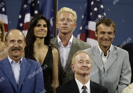 Stan Smith, Gabriela Sabatini, Boris Becker, Rod Laver and Mats Wilander