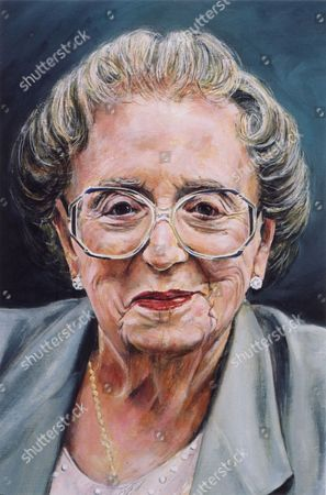 Stock Photo of 'Painting the Stars'   TV Portrait of Thora Hird