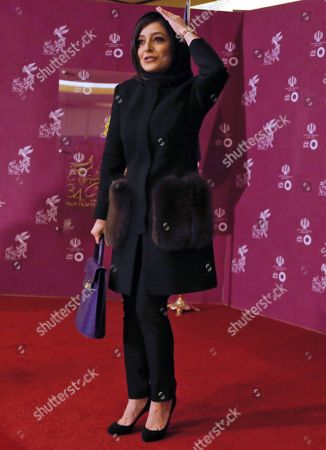 Iranian Actress Sareh Bayat of Iranian Movie 'Not Used' Arrives For the 34th Fajr Film Festival at the Milad Tower Hall in Tehran Iran 08 February 2016 the Festival Runs Until 10 February Iran (islamic Republic Of) Tehran