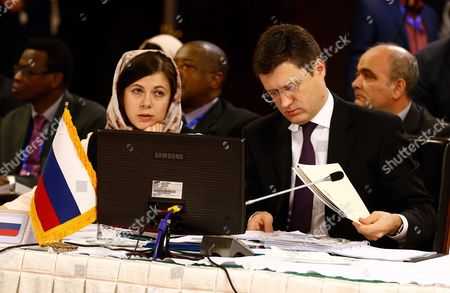 Russian Energy Minister Alexander Novak (r) Attends the Extraordinary Ministerial Meeting of Gas Exporting Countries Forum (gecf) in Tehran Iran 21 November 2015 Iran Will Hold Third Summit of Gas Exporting Countries Forum (gecf) in Tehran on 23 November 2015 with Nine Heads of State Attending Iran (islamic Republic Of) Tehran