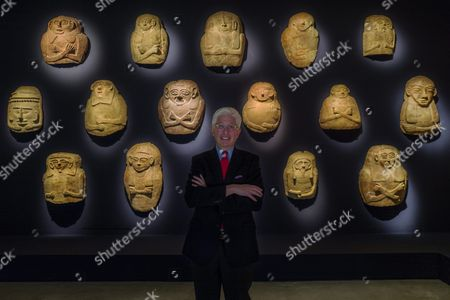 James Snyder Director of the Israel Museum Poses in Front of a Collection of Coffin Lids Mostly Unearthed in Excavations in the Gaza Strip Which Are Part of the Archaeological Exhibition 'Pharaoh in Canaan: the Untold Story' Opening in the Israel Museum in Jerusalem Israel 02 March 2016 the Exhibition Consists of Some 680 Objects Showing the Differences in the Two Distinct Ancient Cultures of Canaan and Egypt in the 2nd Millennium Bce Israel Jerusalem