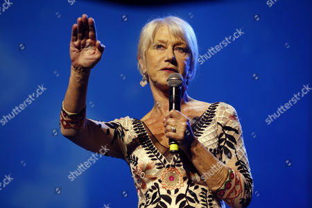 British Actress Helen Mirren Speaks During the Genesis Prize Ceremony in Jerusalem Israel 23 June 2016 Helen Mirren Came to Moderate the Ceremony in Which Israeli -us Violinist Itzhak Perlman Receives the One Million Us Dollar 'Genesis Prize' From Israeli Prime Minister Benjamin Netanyahu For His Contribution in the Field of Music Around the World Israel Jerusalem