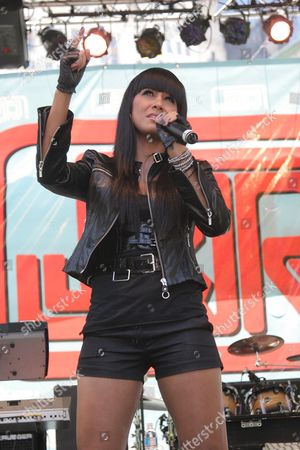 Editorial photo of Jo De La Rosa performs at J and R Music World's 'MusicFest 2008', New York, America - 23 Aug 2008