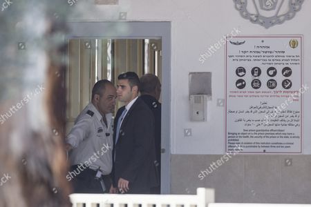 The Former Israel Prime Minister Ehud Olmert (r) Arrives at Massiyahu Prison in Ramale Israel 15 February 2016 Olmert Has to Serve 19 Months in Jail After Being Found Guilty of Corruption Charges Pertaining to when He was Mayor of Jerusalem Before Becoming the Prime Minister Olmert the First Prime Minister to Serve a Jail Term Released a Video Which Says 'No One is Above the Law i Made Mistakes But They Were not Criminal in Nature i Reject Outright the Charges Related to Bribery ' Israel Ramale