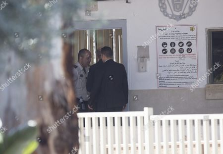 The Former Israel Prime Minister Ehud Olmert (c) Arrives at Massiyahu Prison in Ramale Israel 15 February 2016 Olmert Has to Serve 19 Months in Jail After Being Found Guilty of Corruption Charges Pertaining to when He was Mayor of Jerusalem Before Becoming the Prime Minister Olmert the First Prime Minister to Serve a Jail Term Released a Video Which Says 'No One is Above the Law i Made Mistakes But They Were not Criminal in Nature i Reject Outright the Charges Related to Bribery ' Israel Ramale