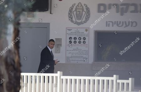 The Personal Security Officer of the Former Israel Prime Minister Ehud Olmert Leaves the Massiyahu Prison in Ramale Israel 15 February 2016 Olmert Has to Serve 19 Months in Jail After Being Found Guilty of Corruption Charges Pertaining to when He was Mayor of Jerusalem Before Becoming the Prime Minister Olmert the First Prime Minister to Serve a Jail Term Released a Video Which Says 'No One is Above the Law i Made Mistakes But They Were not Criminal in Nature i Reject Outright the Charges Related to Bribery ' Israel Ramale