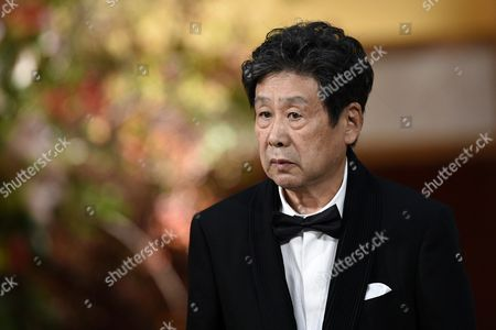 Stock Picture of Japanese Painter Tadanori Yokoo Attends the Awards Ceremony of the 27th Praemium Imperiale in Tokyo Japan 21 October 2015 the Praemium Imperiale is a Global Arts Prize Awarded Annually by the Japan Art Association Five Laureates Are Nominated in the Fields of Painting Sculpture Architecture Music and Theatre/film For Its 27th Edition the Praemium Imperiale Awards Have Been Given to Japanese Painter Tadanori Yokoo German Sculptor Wolfgang Laib French Architect Dominique Perrault French Ballerina Sylvie Guillem and Japan-born British Pianist Mitsuko Uchida Japan Tokyo