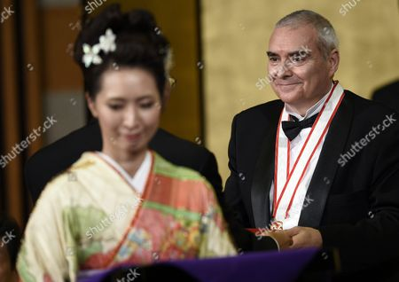 French Architect Dominique Perrault Attends the Awards Ceremony of the 27th Praemium Imperiale in Tokyo Japan 21 October 2015 the Praemium Imperiale is a Global Arts Prize Awarded Annually by the Japan Art Association Five Laureates Are Nominated in the Fields of Painting Sculpture Architecture Music and Theatre/film For Its 27th Edition the Praemium Imperiale Awards Have Been Given to Japanese Painter Tadanori Yokoo German Sculptor Wolfgang Laib French Architect Dominique Perrault French Ballerina Sylvie Guillem and Japan-born British Pianist Mitsuko Uchida Japan Tokyo