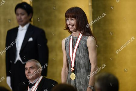 French Ballerina Sylvie Guillem Attends the Awards Ceremony of the 27th Praemium Imperiale in Tokyo Japan 21 October 2015 the Praemium Imperiale is a Global Arts Prize Awarded Annually by the Japan Art Association Five Laureates Are Nominated in the Fields of Painting Sculpture Architecture Music and Theatre/film For Its 27th Edition the Praemium Imperiale Awards Have Been Given to Japanese Painter Tadanori Yokoo German Sculptor Wolfgang Laib French Architect Dominique Perrault French Ballerina Sylvie Guillem and Japan-born British Pianist Mitsuko Uchida Japan Tokyo