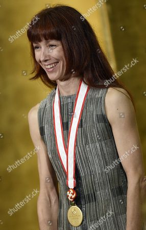 Stock Photo of French Ballerina Sylvie Guillem Attends the Awards Ceremony of the 27th Praemium Imperiale in Tokyo Japan 21 October 2015 the Praemium Imperiale is a Global Arts Prize Awarded Annually by the Japan Art Association Five Laureates Are Nominated in the Fields of Painting Sculpture Architecture Music and Theatre/film For Its 27th Edition the Praemium Imperiale Awards Have Been Given to Japanese Painter Tadanori Yokoo German Sculptor Wolfgang Laib French Architect Dominique Perrault French Ballerina Sylvie Guillem and Japan-born British Pianist Mitsuko Uchida Japan Tokyo