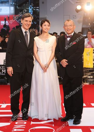 (l-r) French Film Director Jacques Cluzaud Japanese Actress Fumino Kimura and Japanese Actor Shofukutei Tsurube Attend the Opening Red Carpet Event of the 28th Tokyo International Film Festival (tiff) in Tokyo Japan 22 October 2015 Tiff Will Show a Variety of Film Screenings For Until 31 October Japan Tokyo