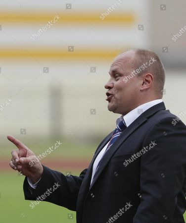 Finland's Head Coach Mixu Paatelainen Gestures During the Baltic Cup 2014 Third Place Friendly Soccer Match Between Finland and Estonia in Ventspils Latvia 31 May 2014 Finland Won 2-0 Latvia Ventspils