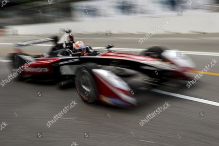 Indian Driver Karun Chandhok of Mahindra Racing Formula E Team in Action During Shakedown Session of the Fia Formula E Championship Racing Series in Putrajaya Malaysia 21 November 2014 the Second Round of Formula E Race Takes Place in Putrajaya on 22 November Malaysia Putrajaya