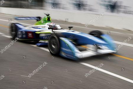 Italian Driver Jarno Trulli of Trulli Formula E Team in Action During Shakedown Session of the Fia Formula E Championship Racing Series in Putrajaya Malaysia 21 November 2014 the Second Round of Formula E Race Takes Place in Putrajaya on 22 November Malaysia Putrajaya