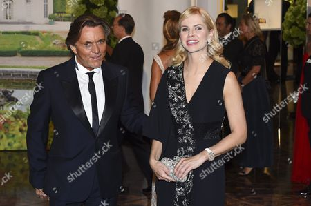 German Designer Otto Kern Arrives with His Wife Naomi Valeska at the 67th Red Cross Ball at the Sporting Club Salle Des Etoiles in Monaco 25 July 2015 the Traditional Charity Event is Held Annually in the Principality of Monaco Monaco Monaco