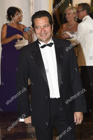 French Comedian Laurent Gerra Arrives at the 67th Red Cross Ball at the Sporting Club Salle Des Etoiles in Monaco 25 July 2015 the Traditional Charity Event is Held Annually in the Principality of Monaco Monaco Monaco