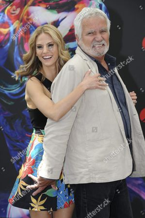 Canadian Actress Kelly Kruger (l) and Us Actor John Mccook of Tv Series 'The Bold and the Beautifuls' Pose During a Photocall at the 56th Monte Carlo Television Festival in Monaco 13 June 2016 the Festival Runs From 12 to 16 June Monaco Monaco