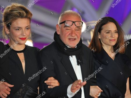 Members of the Jury Italian Actress Jasmine Trinca (r) Hungarian Director and President of the Jury Bela Tarr (c) and Canadian Actress Suzanne Clement Arrive For the Closing Ceremony of the 16th International Marrakech Film Festival in Marrakesh Morocco 10 December 2016 Morocco Marrakech