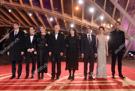 (l-r) Niels Schneider Andrew Cividino Gabriel Lazure Lewis Furey Carole Laure Atom Egoyan Caroline Dhavernas and Brandon Cronenberg Attend the Homage to Canadian Cinema During the 15th Annual Marrakech International Film Festival in Marrakech Morocco 06 December 2015 the Festival Runs From 04 to 12 December Morocco Marrakech