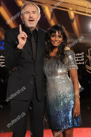 Dutch Actor Anton Corbijn (l) and Member of the Jury Poses with His Wife During the Red Carpet For the Movie 'La Isla' at the 15th Annual Marrakech International Film Festival in Marrakech Morocco 07 December 2015 the Festival Runs From 04 to 12 December Morocco Marrakech