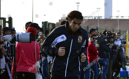 Al Ahly Sc Goalkeeper Sherif Ekramy Warms Up During His Team's Training Session in Agadir Morocco 12 December 2013 Al Ahly Sc Will Face Guangzhou Evergrande Fc in the Fifa Club World Cup Soccer Match on 14 December 2013 Morocco Agadir