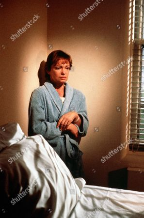 "'Jane Doe'  TV Film - 1983 -   Victoria  Schaffer ""Jane Doe"" (Karen Valentine) shelters in the corner of her hospital room."