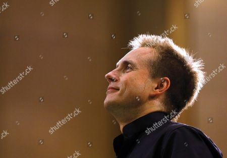 Russian Conductor Vasily Petrenko Turns Towards the Audience After Conducting the Royal Liverpool Philharmonic Orchestra on the Stage of Palace Hall in Bucharest Romania 17 September 2015 During the Enescu Festival 2015 the George Enescu Festival Held Since 1958 Every Two Years is the Biggest Classical Music Festival Held in Romania in Honor of Famous Romanian Composer and Violinist George Enescu Romania Bucharest