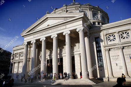The Romanian Athenaeum Concert Hall at the Break of the Anne-sophie Mutter and Mutter Virtuosi Recital Part of the Geroge Enescu International Music Festival in Bucharest Romania 09 September 2015 a Landmark of the Romanian Capital Athenaeum Concert Hall Build in 1888 Hosts the Recitals and Chamber Concerts Performance Series of the Enescu Festival the George Enescu Festival Held Since 1958 Every Two Years is the Biggest Classical Music Festival Held in Romania in Honor of Famous Romanian Composer and Violinist George Enescu Romania Bucharest
