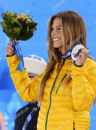 Silver Medalist Torah Bright of Australia During the Medal Ceremony For Snowboard Women's Halfpipe Event at the Sochi 2014 Olympic Games Sochi Russia 13 February 2014 Russian Federation Sochi